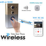 Дверной звонок WiFi предохранения от высокого качества домашний с дистанционным Moniton