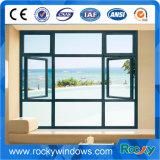 건강한 증거 미늘창 PVC 주거 유리는 Windows를 셔터를 닫는다