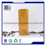 Saco plástico do Zipper do empacotamento de alimento do café com válvula