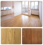 Plancher en plastique de PVC de stratifié en bois de regard fabriqué en Chine