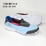 Plus défunte glissade de dames de bonne qualité sur les chaussures occasionnelles de sports (MB176-8)