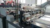 Saco de plástico automático eficiente elevado do t-shirt da estaca fria que faz a máquina