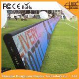 O estádio ao ar livre interno ostenta a tela de indicador do diodo emissor de luz do perímetro/painel/quadro de avisos/sinal (futebol, futebol, o basquetebol)