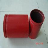 Красный цвет покрасил сваренное Grooved бой пожара трубы стальной структуры конца