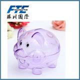 La Banca poco costosa trasparente di plastica dei soldi della casella di moneta di disegno del maiale