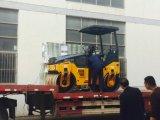 3 톤 디젤 엔진 두 배 드럼 소형 진동하는 도로 롤러 쓰레기 압축 분쇄기 (JM803H)
