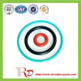 Joint circulaire en caoutchouc de silicones coloré par FDA
