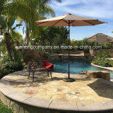 太陽傘が付いている円形の庭のテラスUの屋外の傘