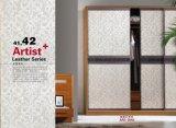 Portello scorrevole del guardaroba di serie dell'otturatore del PVC di disegno di Morden di qualità (yg-0)