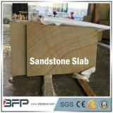 高品質の販売のための黄色い木製の静脈の砂岩平板