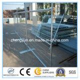 Panel de acero cerca temporal portátil