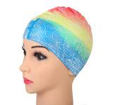 快適なシリコーンの浸る帽子の防水耐久の水泳は男女兼用の帽子をキャップする