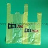 Aangepaste HDPE van de Grootte Plastic het Winkelen van de T-shirt Zak zonder Embleem