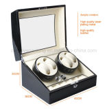 4 + 6 de alta qualidade Black Piano Automatic Wood Watch Winder
