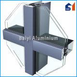 El aluminio perfila a surtidores de la pared de cortina ocultada del marco