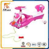 Bon véhicule d'oscillation de bébé avec le dossier et la vente en gros de corde de traction