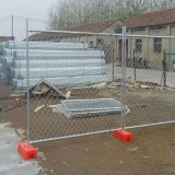 50X50mm Aperture Hot DIP Galvanized Chain Link Temporary Fence 중국제