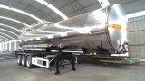 Camion-citerne isolant d'alliage d'aluminium avec le système de chauffage