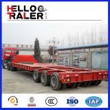 3 Lins 6개의 차축 반 150 톤 판매를 위한 낮은 침대 트럭 트레일러