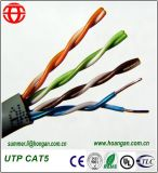 Cable de comunicación de datos de interior de UTP Cat5 del fabricante de China