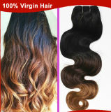 O cabelo brasileiro de Ombre tece, cabelo humano da onda do corpo da classe 5A