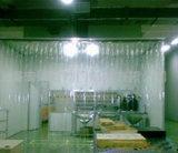Hoja suave clara, azul, amarilla del PVC, hoja de la cortina del PVC, cortina Srtipe del PVC hecho con el material del PVC de la Virgen del 100%