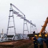 estrutura de aço da subestação da transmissão de potência da câmara de ar de Shapped da porta 500kv