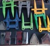 El cortador de la máquina segadora protege el acero de bastidor de la precisión para Nh, protector de cuchillo de Claas