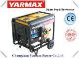 Gruppo elettrogeno diesel diesel raffreddato aria del blocco per grafici aperto di monofase del generatore di Yarmax Genset Ym6500e