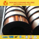 Goldener Brücken-Hersteller 0.8mm 15kg/Spool Sg2 Er70s-6 CO2 Kupfer MIG-Schweißens-Draht für Schweißen