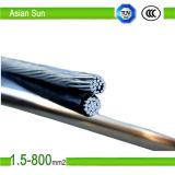 Cable triple limitado aéreo del conductor del Gota-Aluminio del servicio del cable