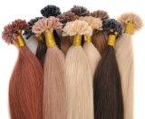 Extensão de seda reta do cabelo humano da ponta de U
