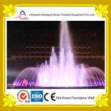 多彩なLEDランプが付いている普及した円のプール水噴水