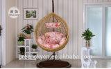 PE 등나무, 침실 등나무 고리 버들 세공 지팡이 대를 가진 거는 계란 그네 의자