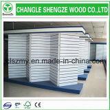 Fabricación crudo o melamina MDF Slatwall / ranurado MDF