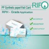 Documento sintetico speciale avanzato resistente del grasso dei materiali piani di BOPP