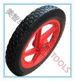 Neumático libre plano de la bicicleta de la rueda de la espuma de la PU de 14 pulgadas