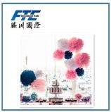 Flor de papel do papel POM Poms da cor da qualidade de Hight multi