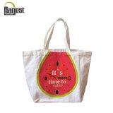 100%年の綿の昇進の再使用可能なキャンバスの折るショッピング・バッグ
