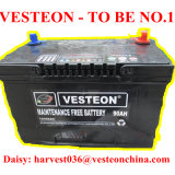 12V Batterij van de Auto van het Lood van het onderhoud DIN100 de Vrije Zure