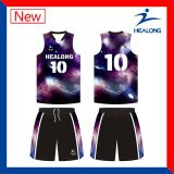 Camisas dos uniformes da camisola do basquetebol do Sublimation do Iniciar-Céu