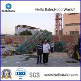 Machine van de Pers van het Karton van Hellobaler de semi-Auto Hydraulische