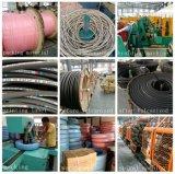Boyau hydraulique flexible tressé de tuyau de pétrole de la fibre SAE100r3