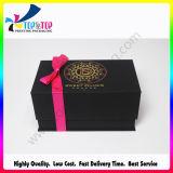Empaquetado de lujo de la joyería del regalo de la insignia de la manera de la venta al por mayor de encargo del rectángulo de papel