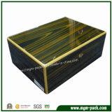 제조 주문 높은 광택 있는 단단한 나무 시가 박스