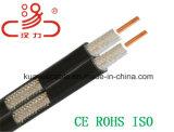 Cable doble del audio del conector de cable de la comunicación de cable de datos del cable del cable coaxial/del ordenador del alambre Rg/59