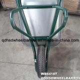 ロシアの市場のためのGalnizedの皿85L容量のステンレス鋼の手押し車