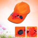 Chapéu do esporte do tampão do ventilador da energia solar do basebol do presente da promoção