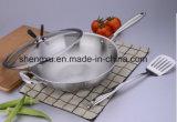 18/10 Wok Cookware нержавеющей стали китайских варя сковороду (SX-WO32-4)