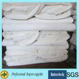 Weißes chemisches graues Rayon-Gewebe für Drucken-Kleid